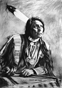 Oglala Digital Art - Chief Red Shirt by Susanne Forestieri