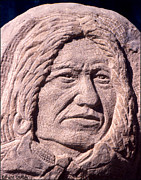 Medicine Sculpture Posters - Chief-Spotted-Tail Poster by Gordon Punt