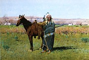 Great Plains Painting Posters - Chief Spotted Tail Poster by Pg Reproductions