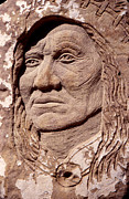Iron  Sculpture Metal Prints - Chief-Washakie Metal Print by Gordon Punt
