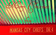 Nfl Posters - Chiefs Christmas Poster by Chris Berry