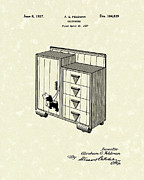 Bureau Prints - Chifforobe 1937 Patent Art Print by Prior Art Design