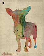 Chihuahua Portraits Prints - Chihuahua Dog Art  Print by Brian Buckley