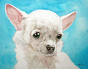 Chihuahua Originals - Chihuahua Dog White by Christopher Shellhammer