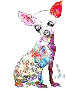 Dogs Mixed Media - Chihuahua Graffiti by Brian Buckley