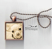 Homeless Pets Jewelry Originals - Chihuahua Handcrafted Necklace by Jak of Arts Photography