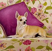 Dog Art Paintings - Chihuahua II by John Silver