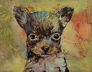Puppies Metal Prints - Chihuahua Metal Print by Michael Creese