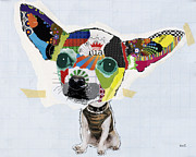 Collage Mixed Media Prints - Chihuahua Print by Michel  Keck