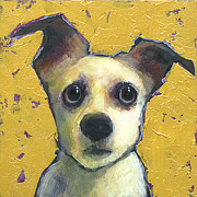 Eyes  Paintings - Chihuahua Mix by Mary Medrano