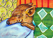 Chihuahua Abstract Art Posters - Chihuahua Sleeping Poster by Jay  Schmetz