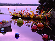 Glass Reflecting Framed Prints - Chihuly Boats and Balls Framed Print by Robert J Sadler