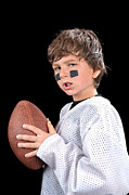 Tape Player Prints - Child football player Print by Joe Belanger