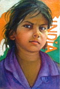 Janet Mcgrath Metal Prints - Child from India Metal Print by Janet McGrath