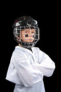 Hockey Guy Posters - Child Hockey Player Poster by Joe Belanger