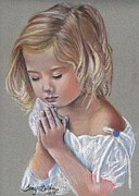 Praying Pastels Posters - Child in Prayer Poster by Tonya Butcher