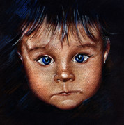 Child Portrait Print by Daliana Pacuraru