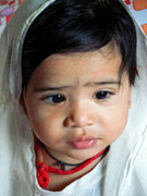 Child Portrait Print by Makarand Purohit