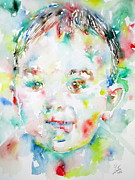 Smiling Painting Posters - Child Showing His Tongue Poster by Fabrizio Cassetta
