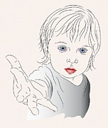Anderson Digital Art - Child With Outstretched Hand by MM Anderson