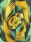 Childbirth Print by Leon Zernitsky