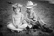 Cowboy Hat Photos - Childhood by Cindy Singleton