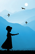 Childhood Dreams 5 Feeding Time Print by John Edwards