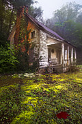 Country Cottage Prints - Childhood Dreams Print by Debra and Dave Vanderlaan