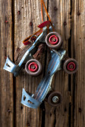 Skate Photo Metal Prints - Childhood skates Metal Print by Garry Gay