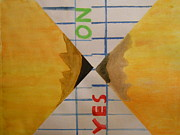 Vote Mixed Media - Childlike Yes No  by Josh Jeffers