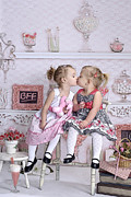 Children Bff Print by J R Baldini Master Photographer