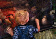 Toddler Art - Children - Look at the baby by Mike Savad