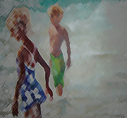 Mikyong Rodgers - Children on the beach