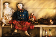 Porcelain Prints - Children - Toys - Assorted Dolls Print by Mike Savad