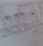 Pencil On Canvas Prints - Childrens Joy Print by Melissa Nankervis