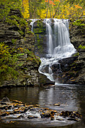 Dingmans Falls Framed Prints - Childs Park Waterfall Framed Print by Susan Candelario