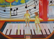 Giant Piano Posters - Childs Play Poster by Charme Curtin