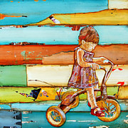 Tricycle Framed Prints - Childs Play Framed Print by Danny Phillips