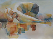 Yoga Pose Paintings - Childs Pose Yoga by Robert P Hedden
