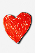 Glued Paper Posters - Childs valentine card Poster by Sylvie Bouchard