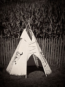Play Prints - Childs vintage play tipi Print by Edward Fielding