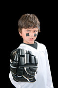 Youth Hockey Photos - Chile hockey player with glove by Joe Belanger