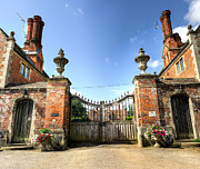 Castle Gates Framed Prints - Chilham Castle Framed Print by Ian Hufton
