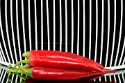 Organic Originals - Chilli pepper and grid by Tommy Hammarsten