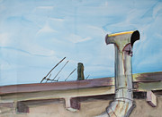 Chimney Pipe And Berkeley Sky Print by Asha Carolyn Young