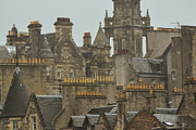 Bill Mock Framed Prints - Chimney pots of Edinburgh Framed Print by Bill Mock