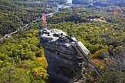 Chimney Rock North Carolina Framed Prints - Chimney Rock North Carolina Framed Print by Pierre Leclerc