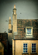 Bath House Posters - Chimneys and Tile Rooves Poster by Jill Battaglia