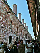 Chimneys Digital Art Prints - Chimneys in Topkapi Palace Kitchen Which Fed 4000 in First Century-Turkey Print by Ruth Hager