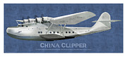 China Clipper Framed Prints - China Clipper NC 14716 Framed Print by Kenneth De Tore